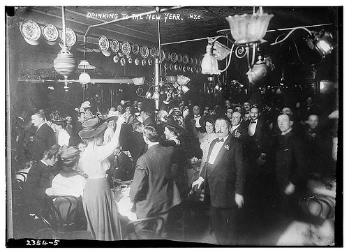 Drinking to the New Year, NY (LOC)