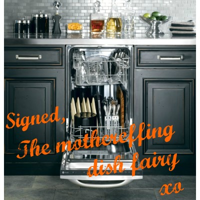 Signed, The mothereffing dish fairy