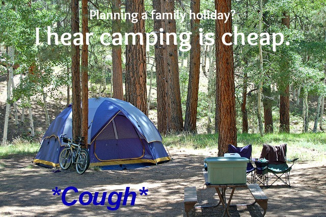 Planning a family holiday? I hear camping is cheap