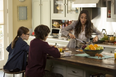 Mila Kunis breakfast scene in Bad Moms